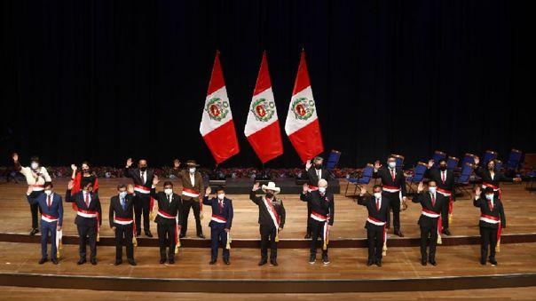 Pedro Castillo. Guido Bellido. Gabinete ministerial.
