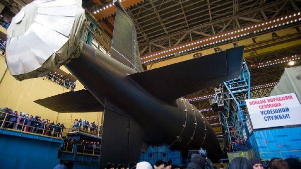 Rusia bota un nuevo submarino nuclear, el \'Krasnoyarsk\'