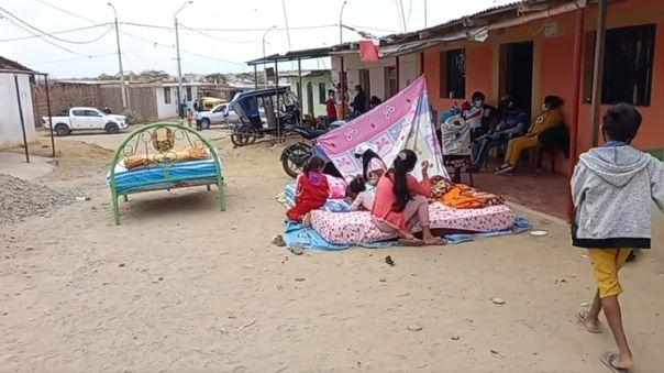 Damnificados por sismo de magnitud 6.1 en Piura