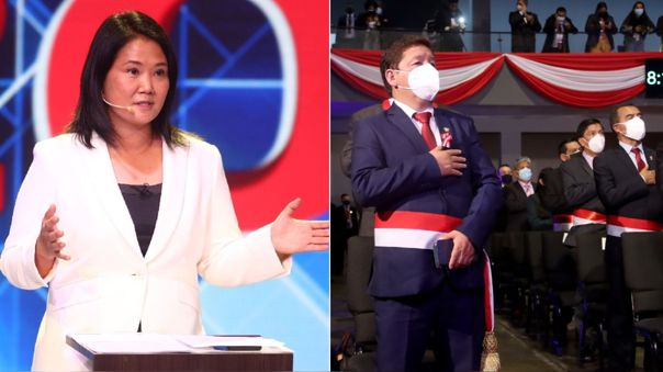 Keiko Fujimori cuestionó al gabinete de Pedro Bellido.