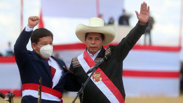 Guido Bellido y Pedro Castillo.