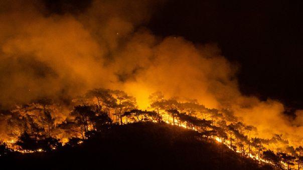 Incendio en Turquía