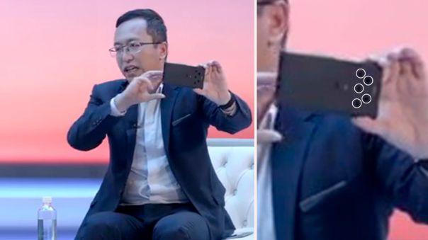 El CEO de Honor mostró este celular en un evento.