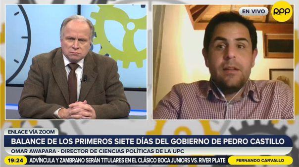 Omar Awapara comenta los primeros días del gobierno de Pedro Castillo.