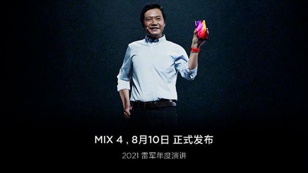 Xiaomi presentará su Mi Mix 4.