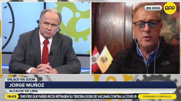 Alcalde Jorge Muñoz en contra de implementar rondas campesinas en la ciudad.
