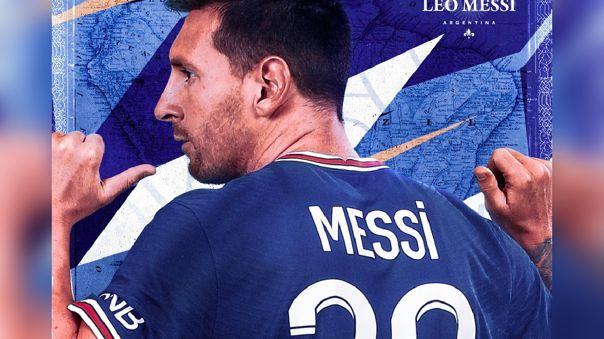 Ya está en venta la camiseta de Lionel Messi en la página web del PSG.
