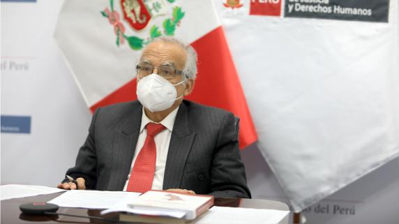 Aníbal Torres, ministro de Justicia.
