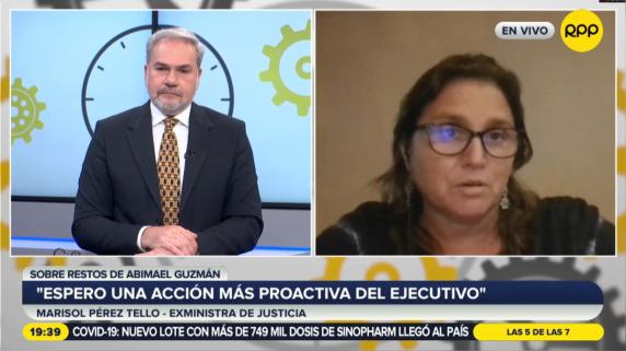 Marisol Pérez Tello comenta la situación de los restos de Abimael Guzmán.