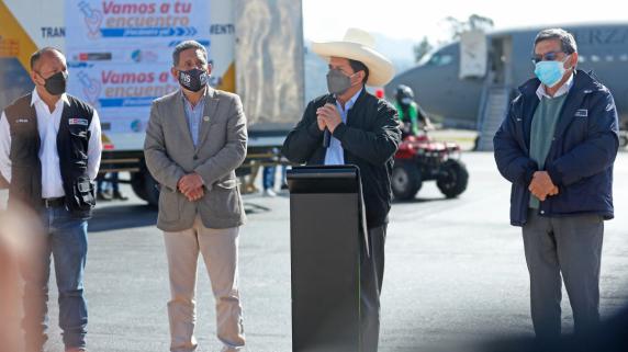 Presidente Castillo realizó una visita oficial a Cajamarca.