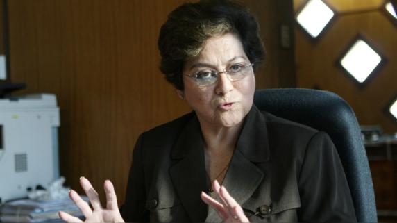 Gladys Echaíz, congresista de APP y presidenta de la comisión de Justicia del Parlamento.