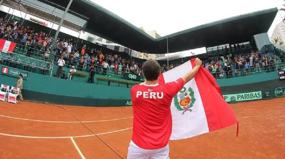 Perú jugará ante Bosnia como local en la Copa Davis.