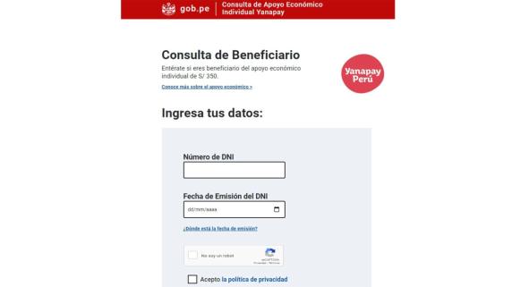 Bono 350 Yanapay: ¿Cuál es el link para saber si eres beneficiario?