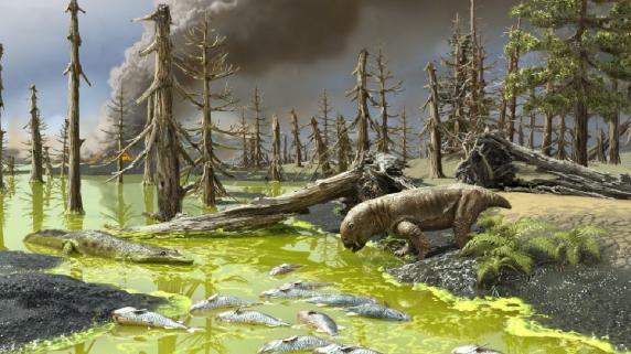 Una sopa tóxica se sumó al cóctel de la peor extinción en la Tierra hace 252 millones de años