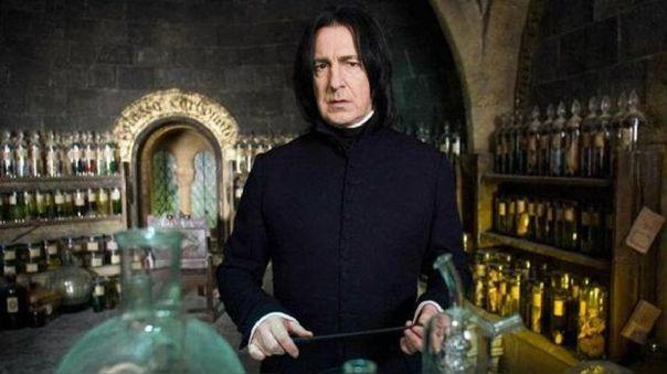 El actor Alan Rickman, quien le dio vida a Severus Snape en las películas de