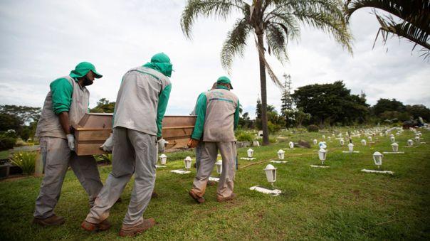 Brasil supera las 592 000 muertes por covid y roza 21,3 millones de casos