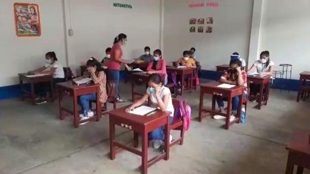 Clases semipresenciales en Loreto: Alumnos del colegio 9 de Octubre de Belén vuelven a clases semipresenciales