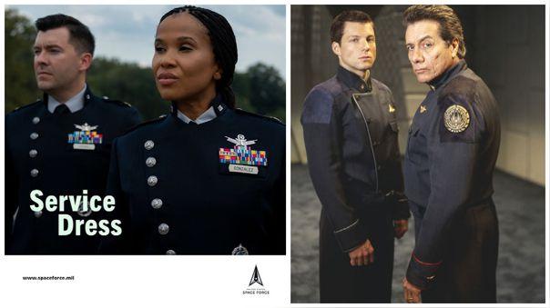 El nuevo uniforme de la Fuerza Aérea Espacial hizo recordar al utilizado en Battlestar Galactica.