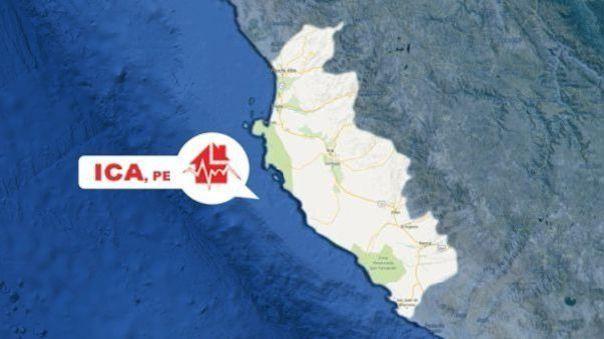 Un sismo de magnitud 4.2 se registró esta tarde en Ica