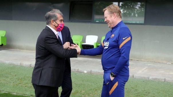 Barcelona respaldó a Ronald Koeman: Joan Laporta aseguró su continuidad pase lo que pase ante Cádiz