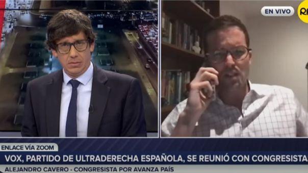 """Alejandro Cavero justificó reunión con Vox: Que yo sepa \""""no tienen acusaciones\"""" de racismo"""