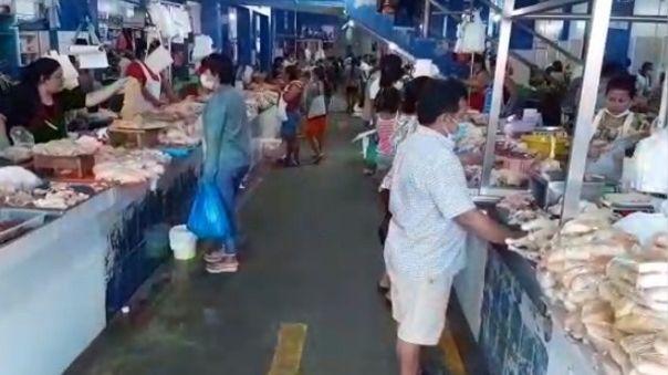 Medidas de bioseguridad se han descuidado en el mercado Belén de Iquitos.