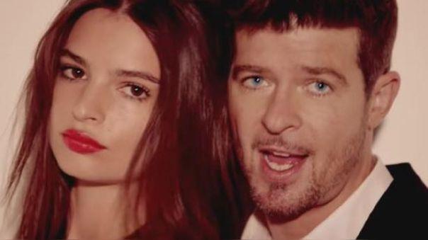Emily Ratajkowski acusó al cantante Robin Thicke de acoso sexual