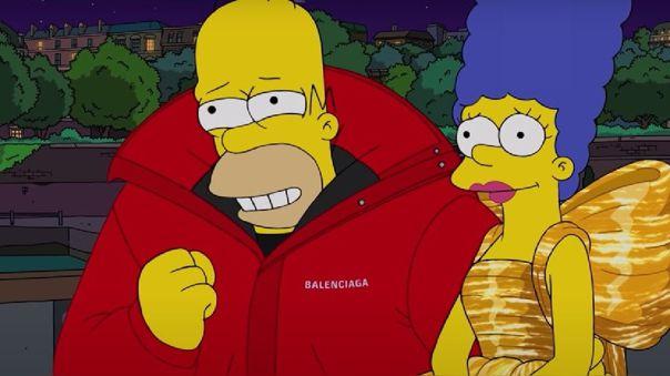 Homero, Marge, Lisa, Bart y más vecinos de Springfield se convirtieron en modelos de la marca Balenciaga y fueron parte de la Semana de la Moda de París.