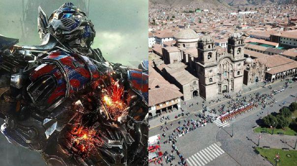 Transformers. Cusco. Rodaje. Vías cerradas
