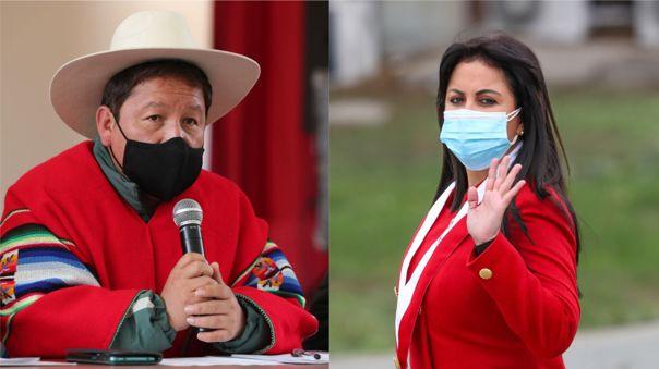 Guido Bellido y Patricia Chirinos