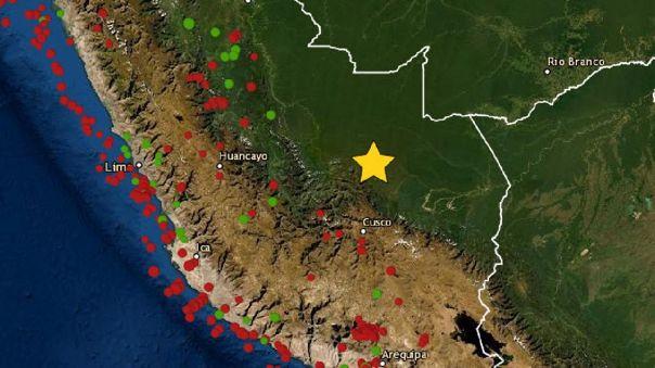 Cusco: nuevo sismo de magnitud 4.5 se registró en Paucartambo este domingo