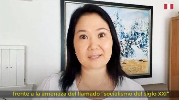 Keiko Fujimori participó en evento Viva 21 de Vox