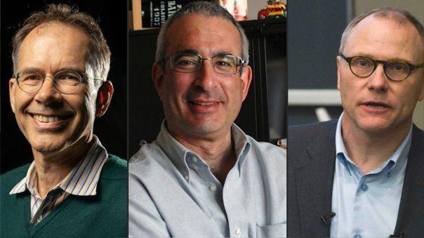 David Card, Joshua Angrist y Guido Imbens, los nuevos premios Nobel de Economía.