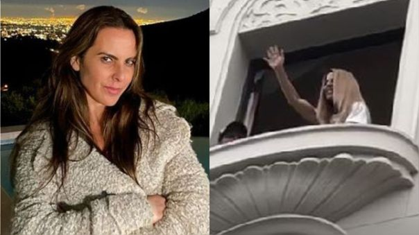 Kate del Castillo saluda a sus seguidores desde su hotel en Lima