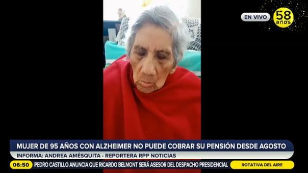 Anciana no puede cobrar su pensión desde agosto porque su tarjeta del Banco de la Nación ha vencido [VIDEO]