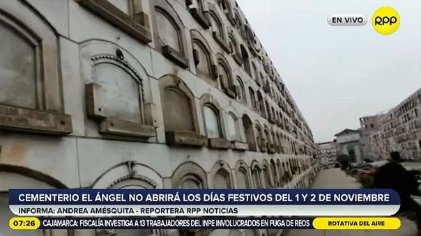 Cementerios El Ángel y Presbítero Maestro no abrirán el 1 y 2 de noviembre para evitar aglomeraciones [VIDEO]