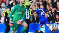 Chelsea vs. Manchester United: Eden Hazard anotó con huacha incluida