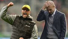 Josep Guardiola y su cara de meme al ver festejar a Jürgen Klopp