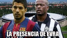 Barcelona vs. Juventus: Patrice Evra amenaza a Luis Suárez con su 'presencia'