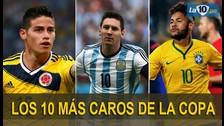 Copa América: los 10 jugadores más caros de la competencia