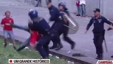 YouTube: Policía ataca a dos niños y un abuelo en celebraciones del Benfica