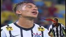 Paolo Guerrero falló increíble ocasión en el Corinthians vs. Fluminense