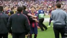Barcelona: Lionel Messi y Luis Enrique hicieron las pases en plena celebración