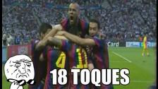 Barcelona vs. Juventus: Los 18 toques antes del primer gol blaugrana