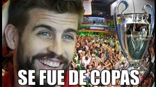 Barcelona: Gerard Piqué celebró con Shakira su Champions League