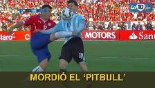 Chile vs. Argentina: la patada de Gary Medel a Lionel Messi que pudo ser roja