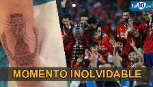 Copa América: jugador chileno se tatuó el trofeo y no es Mauricio Pinilla