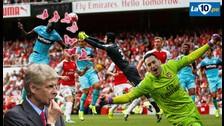 Arsenal vs. West Ham: Petr Cech salió a cazar mariposas en gol rival