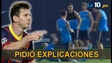 Barcelona: Lionel Messi y su reacción tras fuerte entrada de Mascherano
