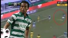 André Carrillo marcó una 'pepa' con el Sporting de Lisboa